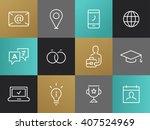 single line job applicaition... | Shutterstock .eps vector #407524969