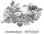 turkey on thanksgiving | Shutterstock . vector #40752565
