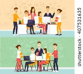 co working people  business...   Shutterstock .eps vector #407531635