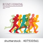 color group people business... | Shutterstock .eps vector #407533561