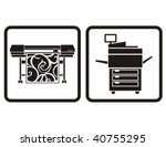 large format printer and...   Shutterstock .eps vector #40755295