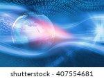 graphical digital technology... | Shutterstock . vector #407554681