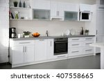new modern kitchen interior | Shutterstock . vector #407558665