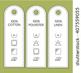 guide to laundry care symbols. | Shutterstock .eps vector #407559055