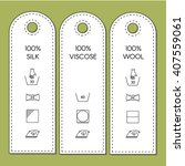 guide to laundry care symbols.   Shutterstock .eps vector #407559061
