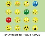 a set of emoticons. vector | Shutterstock .eps vector #407572921