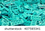 Blue Plastic Lego Blocks