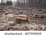 deforestation environmental... | Shutterstock . vector #407590039