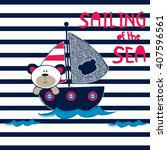 sailing of the sea  sailor... | Shutterstock .eps vector #407596561