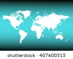 world map countries colorful.... | Shutterstock .eps vector #407600515