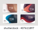 collection of discount ... | Shutterstock .eps vector #407611897