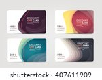 collection of discount ... | Shutterstock .eps vector #407611909