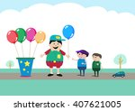 small business owner selling... | Shutterstock .eps vector #407621005