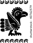 american ornament bird | Shutterstock .eps vector #40762579