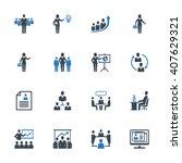 business management icons set 1 ... | Shutterstock .eps vector #407629321