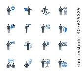 business management icons set 2 ... | Shutterstock .eps vector #407629339