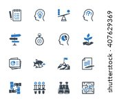 business management icons set 3 ... | Shutterstock .eps vector #407629369