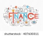 creative concept of finance ... | Shutterstock . vector #407630311