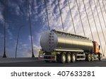 3d rendering of tanker on... | Shutterstock . vector #407633281