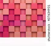 3d square mosaic. 3d rendering... | Shutterstock . vector #407634931