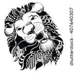 lion head icon | Shutterstock .eps vector #407640307