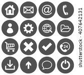 set of 16 basic flat icons on...