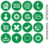 set of 16 basic flat icons on...
