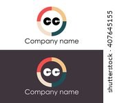 cc letters business logo icon...   Shutterstock .eps vector #407645155