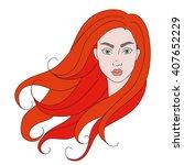 isolated illustration of a girl ... | Shutterstock .eps vector #407652229