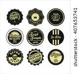 vintage labels black and  beige ...   Shutterstock .eps vector #407653741