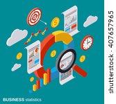 business statistic  analytics ... | Shutterstock .eps vector #407657965