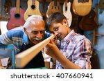 small family business and... | Shutterstock . vector #407660941
