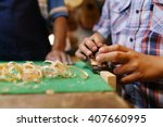 small family business and... | Shutterstock . vector #407660995