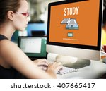 study learning education... | Shutterstock . vector #407665417