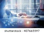 business concept photo... | Shutterstock . vector #407665597