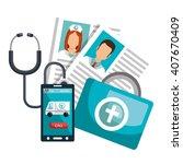 health technology design  | Shutterstock .eps vector #407670409