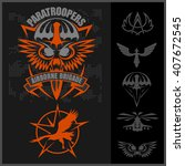 paratroopers   special unit... | Shutterstock .eps vector #407672545