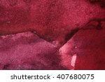 dark burgundy watercolor... | Shutterstock . vector #407680075