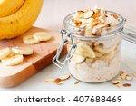 bananas nut overnight oats with ...