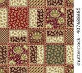 seamless patchwork background... | Shutterstock .eps vector #407688685