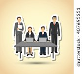 businesspeople graphic design   ... | Shutterstock .eps vector #407695351