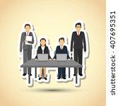 businesspeople graphic design   ... | Shutterstock .eps vector #407695351