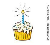 Birthday Cake Icon.