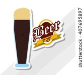 beer icon design   editable... | Shutterstock .eps vector #407695897