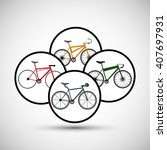 graphic design of bike... | Shutterstock .eps vector #407697931