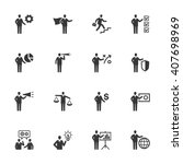 business management icons   set ... | Shutterstock .eps vector #407698969