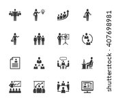 business management icons   set ...   Shutterstock .eps vector #407698981