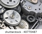 Plastic gears - stock photo