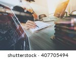 website designer working... | Shutterstock . vector #407705494