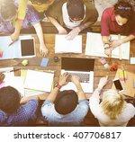 educational institution friend...   Shutterstock . vector #407706817